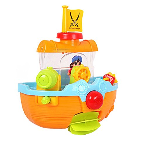 Sealive PIRATE SHIP Baby/Child/Toddler Squirting Bath Activity Toy Bathroom,for 1 years (Little Man In The Boat Costume)