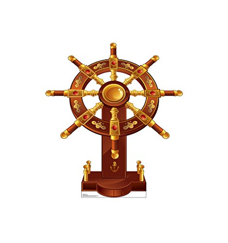 Ship's Wheel - Advanced Graphics Life Size Cardboard Cutout Standup (Ship Out Cut)