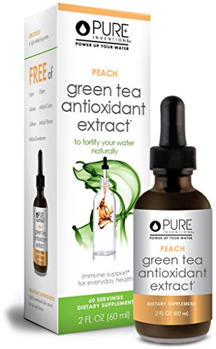Pure Inventions - Antioxidant Green Tea Extract - Peach (60 Servings) - 2 Oz (Green Tea Extract No Caffeine compare prices)