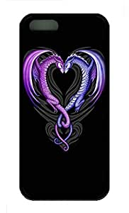 iPhone 5S Case, Personalized Protective Soft Rubber TPU Dragons Black Case Cover for iPhone 5 5S