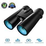 Gdhoug Binoculars Adults, 12×42 Binoculars Adults Compact, Binoculars Outdoors Bird Watching Compact HD Professional Binoculars Bird Watching Travel Stargazing (Binoculars for Adults1)