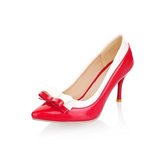 Lazos Puntera Rojo Sin en De VogueZone009 Cordones con Mujeres Salón Punta Twv4n5zq