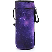 Water Bottle Carrier,Insulated Neoprene Water Gym Travel bottle Holder Bag Protector Sleeve Case Pouch Cover 0.6L or 0.75L, Great for Stainless Steel and Plastic Bottles