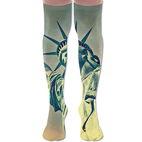 Flame Statue Of Liberty Cycling Unisex Knee High -