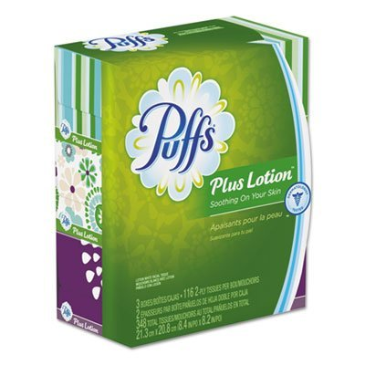 Gamble Puffs Facial Tissue - Procter And Gamble Facial Tissues w/Lotion, Puffs+, Fam Pak, 3/PK, WE, Sold as 1 Package