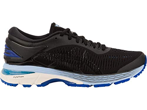 Big Tall Women Shoes - ASICS Women's Gel-Kayano 25 (D) Running Shoes, 10W, Black/ASICS Blue