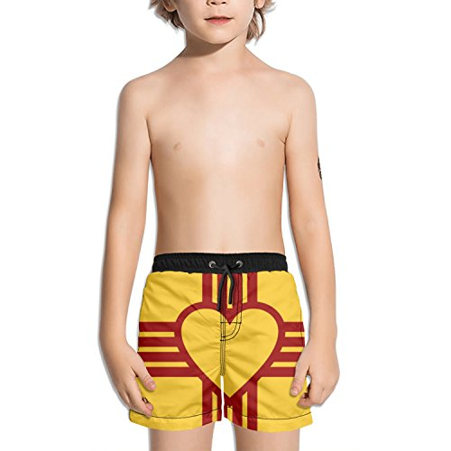 Zia Pueblo Pottery - Trum Namii Boy's Quick Dry Swim Trunks Zia Pueblo Symbol Shorts