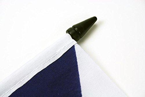 AZ FLAG Drapeau de Table Lorraine 21x14cm France 14 x 21 cm Petit Drapeaux DE Bureau Lorrain