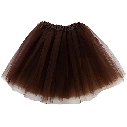Brown Tutu For Adults (So Sydney Adult Size 3-Layer Tutu Skirt - Princess Costume Ballet Party Warrior Dash/Run (Brown),One)