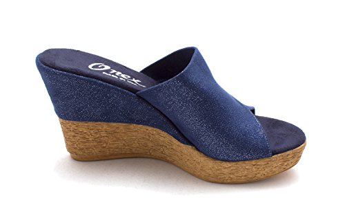Suede Toe Womens Elastic Open Navy Charlie O Platform Sandals Casual NEX Onex Leather nWaOYp6P