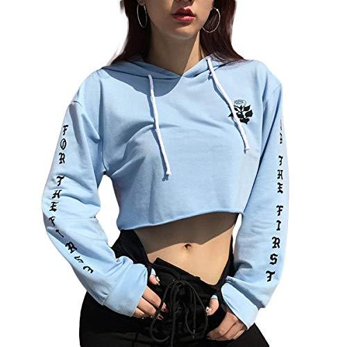 Crop Dames Bolawoo La M Première Sudadera Blau Pour Rosas Top De Est Mode EqHxBdHr