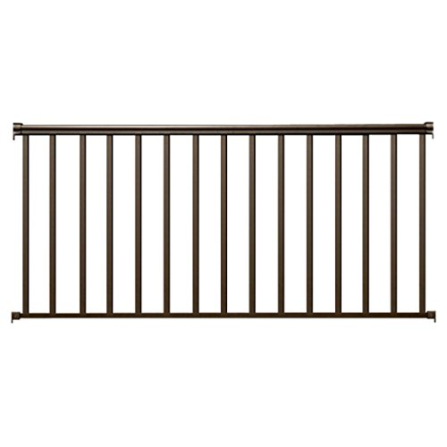 Cheap  Contractor Deck Railing 6ft x 36in Aluminum Residential Railing - Bronze