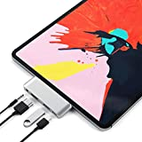 Satechi Aluminum Type-C Mobile Pro Hub Adapter with USB-C PD Charging - 4K HDMI - USB 3.0 & 3.5mm Headphone Jack - Compatible with 2018 iPad Pro - Microsoft Surface Go and More (Silver)
