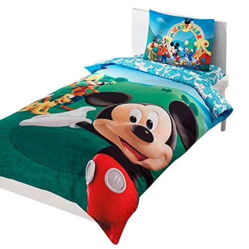 Disney Mickey Club Cama individual Cama Infantil Niña cama edredón (160 x 220 cm), 100% algodón, con funda nórdica,...