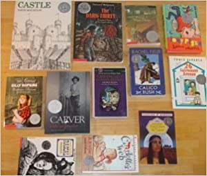 Book Newbery Honor Books set of 12: Castle, Dark-Thirty, Carver, Because of Winn-Dixie, Cricket in Times Square, Rascal, Charlotte's Web, Calico Bush, Sing Down the Mon, Joey Pigza Loses Control, 36 Fairmount Avenue, Great Gilly Hopkins