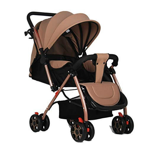LANGY TC-3 Two-Way Baby Stroller Baby Stroller Ultra-Light Portable seat Reclining Folding Stroller (Khaki)