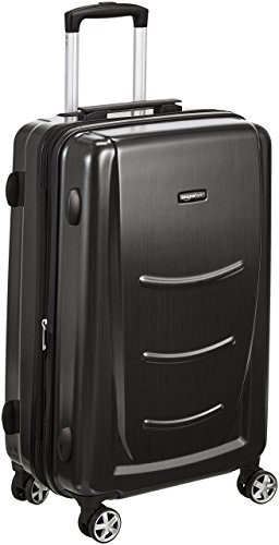 AmazonBasics Hard Shell Carry On Spinner Suitcase Luggage - 20 Inch, Slate Grey