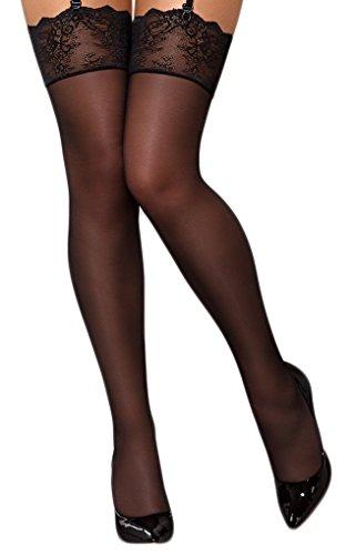 Selente Lovely Legs verleidelijke jarretelkousen voor dames, in leuke geschenkdoos, made in EU