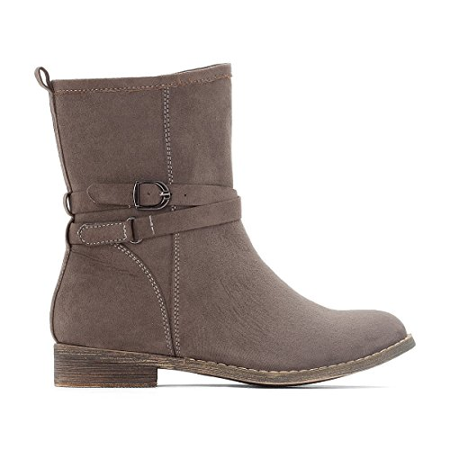 La Redoute Collections Big Girls Buckle Boots, 28-35 Grey