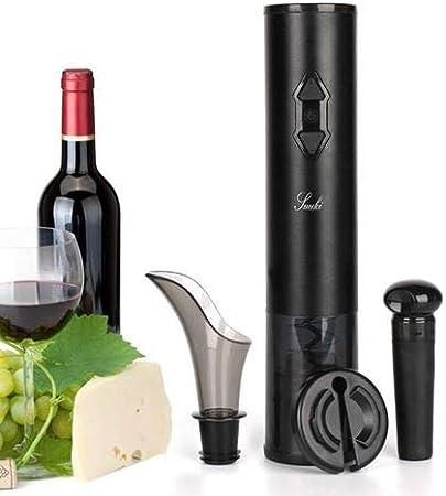 Suuki Sacacorchos Eléctrico, Sacacorchos para Navidad, Abridor de Botellas Electrico 4 en 1 con Cortapapeles/Vertedor de Vino/Tapón de Vino y Caja para Regalo, el Regalo para Los Amantes del Vino