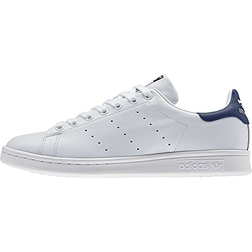 adidas Originals Stan Smith, Chaussons Sneaker Homme Blanc (Running White/Running White/New Navy)