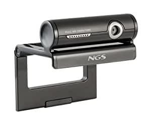 NGS Nazar Full HD - Webcam Full HD 3 MP, color: gris