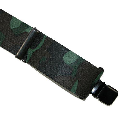 CTM Men's Elastic Clip-End 2 Suspenders,
