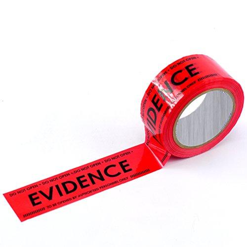 Crime Scene Evidence Box Sealing Tape, Red