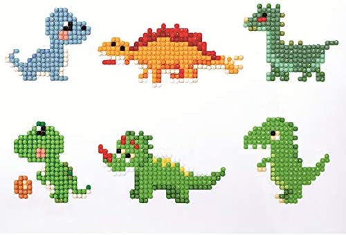 Myboree DIY 5D Diamond Painting Kits for Kids Painting by Number Stickers Dinosaur /& Animals3 Pack
