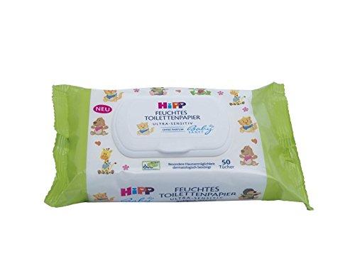HiPP Babysanft feuchtes Kinder Toilettenpapier, 6er Pack (6 x 50 Stück) 6er Pack (6 x 50 Stück) 9577