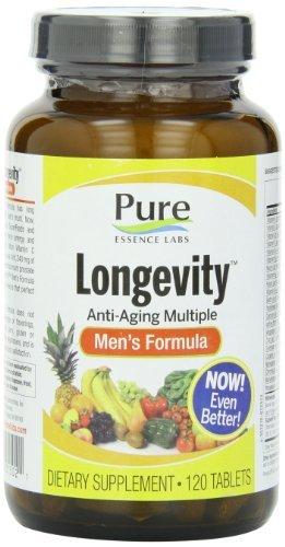 Pure Essence, Longevity, Anti-Aging Multiple, Men's Formula, 120 Tablets by Pure (Longevity Anti Aging)