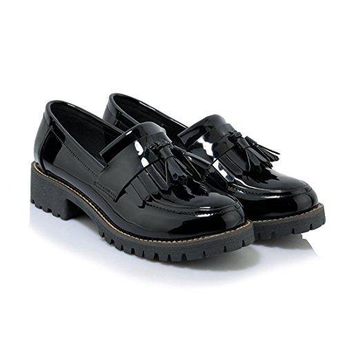 Mocassins Décontractés Classiques Pour Femmes - Mocassins De Conduite Souple Slip On Shoes 838-1 Black