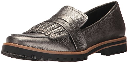 Bernardo Women's OLLEY Loafer Flat, Gunmetal Tumbled Pascale, 9M M US