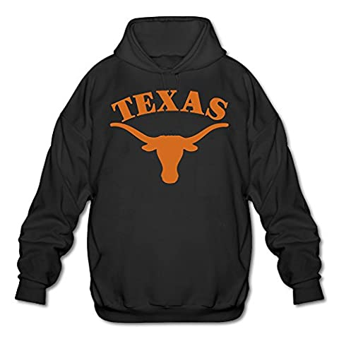 PTR Men's Hoodie - Texas Longhorns Black Size M (Hoodies Texas)