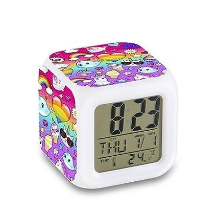 Top Trenz Color Changing Led Digital Alarm Clock=Unicorn