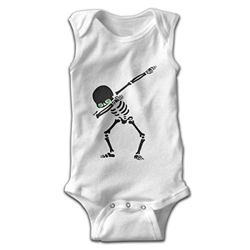Pullan Eudora Marijuana Dab Dabbing Skeleton Unisex Baby Sleeveless Cotton Onesies Outfits