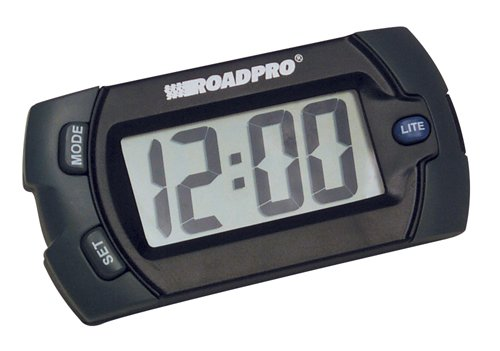 Golf Cart Clock (RoadPro 1324 Electronic Big Digit Clock and Calendar with Velcro Mounting Tape)