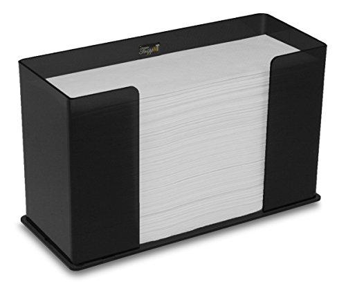 TrippNT 52914 Counter Top Black Acrylic Fold/Multifold Paper Towel Dispenser, 11 1/4 x 6 5/8 x 4 5/8 inches - Fold Napkin Dispenser Scott Full