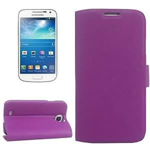 Fine Sheepskin Texture Sheepskin Horizontal Flip Leather Case with Card Slots & Holder for Samsung Galaxy S4 (Purple)