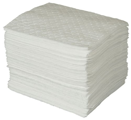 Brady SPC Basic Oil-Only Heavy Weight Absorbent Pad, White, 15'' L x 17'' W (100 Sheets Per Bale) - BPO100 by Brady SPC (Image #1)