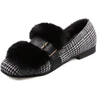 US8   EU39   UK6   CN39 Wuyulunbi@ Chaussures femmes de confort d'hiver polaire Appartements bout rond pour piscine noir