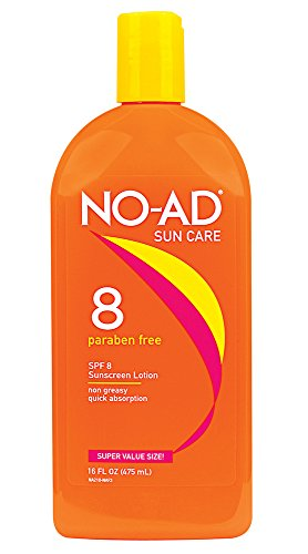 NO-AD Protective Tanning Lotion, SPF 8 16 oz