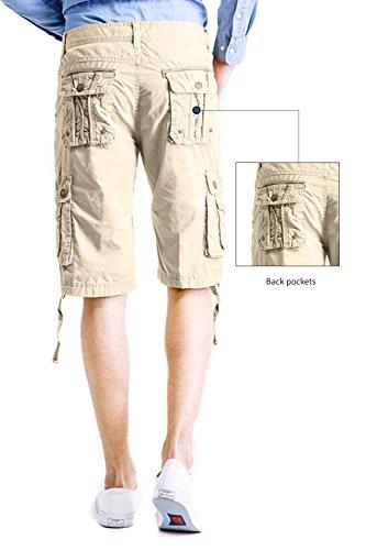 Cyparissus Mens Cargo Shorts Multi Pockets Short for Men (36,Khaki) by Cyparissus (Image #3)