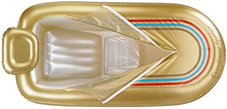 ポータブル大型インフレータブルバスタブ、ファミリーマッサージ温泉インフレータブルバスバレル、環境PVCおよび電動エアーポンプ、快適な大人SPAインフレータブルタブ(ゴールド)