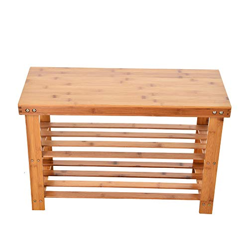 Chranto Lucky 7 Bamboo Stool Shoe Cabinet Shoe Rack Garden Foot Stool Storage Stool Simple Style from Chranto furniture
