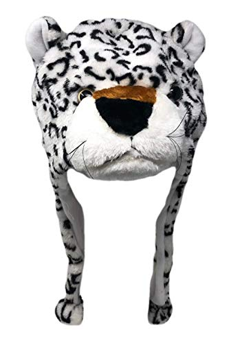 Plush Fun Animal Beanie Hat - One Size (Older Kids & Teens) - Polyester w/Fleece Lining (Snow Leopard)]()