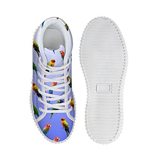 Abbracci Idea Pappagallo Modello Donna Moda Piattaforma Scarpe Da Ginnastica Sneakers Pappagallo 3