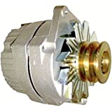 new delco 24 volt replacement alternator fits tractors 1-wire with wide  double pulley
