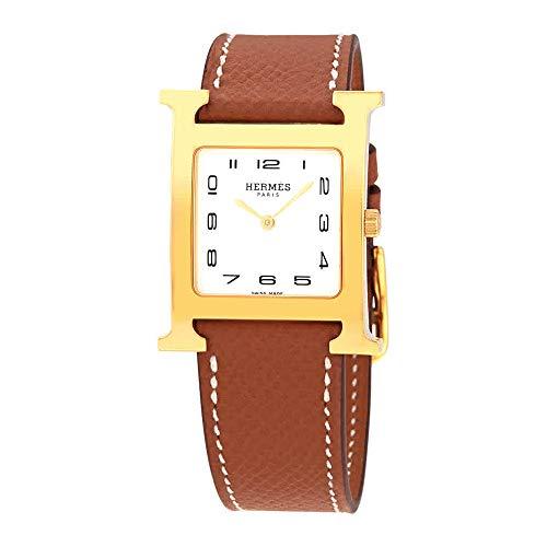 (Hermes Heure H White Dial Ladies Medium Watch 036783WW00)