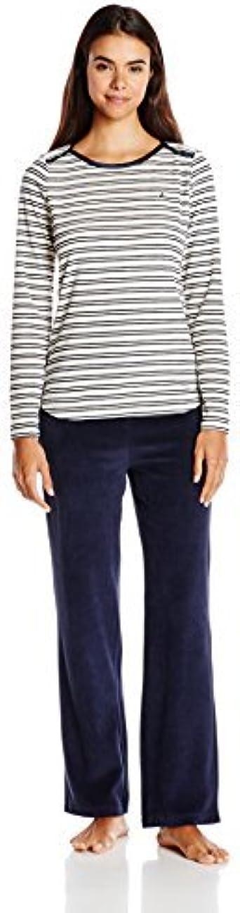 Nautica pijamas mujer Set de pijama de punto de terciopelo ...